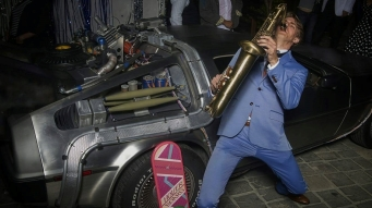 Sometimes I play tenor sax at Back to the Future themed shows